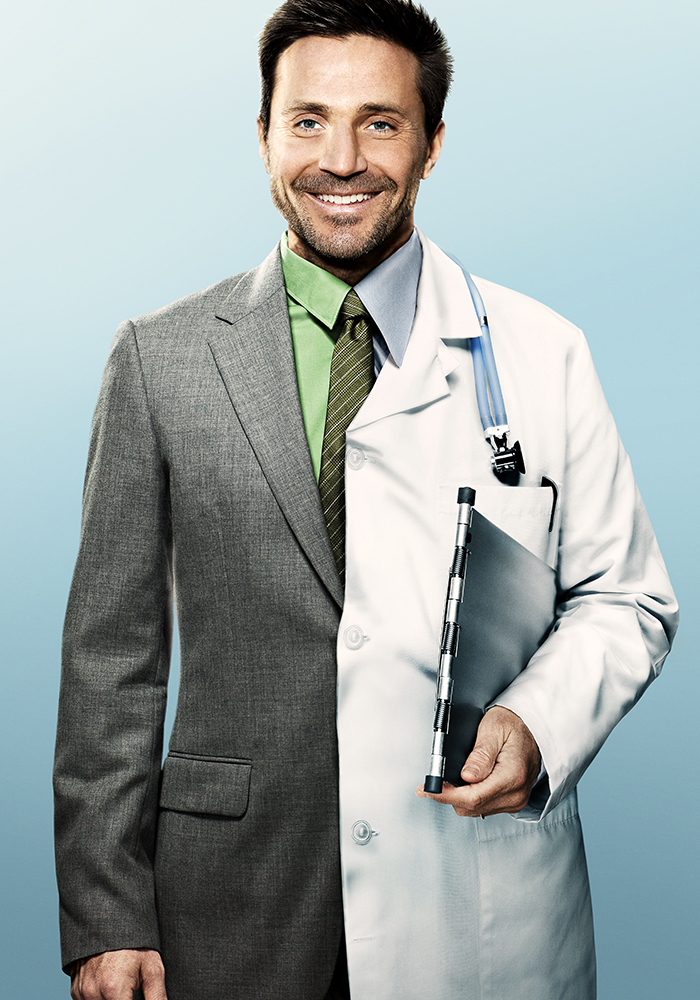 Doctor wearing smock
